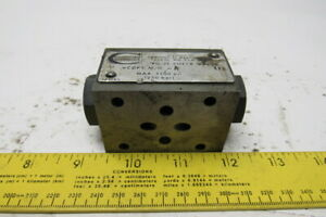 Continental Hydraulics Vcd5 m g a Pilot Operated Check Valve Sandwich Module