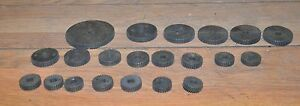 21 Lathe Gears 96 30 Threading Gear Lot South Bend Machinist Vintage Tools