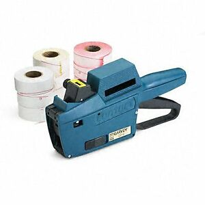 Model 22 6 1 line 6 char Pricemarker Kit Marker Gun ink Roll 9 Rolls Labels