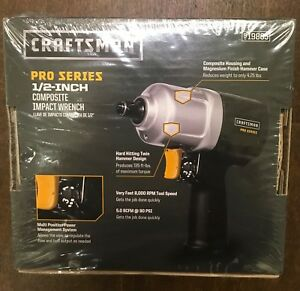 New Craftsman 1 2 in Pro Series Composite Impact Wrench 19865 not Refurished