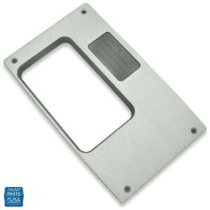 1968 1969 Camaro Console Top Plate 6 Speed Manual Billet Aluminum Brushed Clear