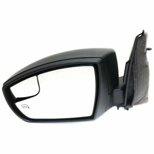 Mirror For 2013 2016 Ford Escape Left Side Manual Fold Heated Textured Black