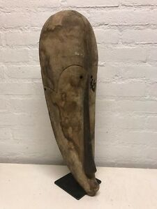 170618 Large Old Tribal Used African Mask From The Fang Gabon