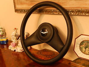 Aston Martin Lagonda Serie 4 Steering Wheel Black Leather New Old Stock