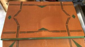 Vintage Table With Art Deco Design Porcelain Metal Top Must See