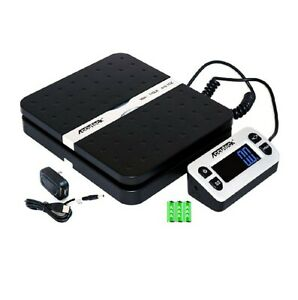 Accuteck Shippro Postal Scales 110lbs X 0 1 Oz Black Digital Shipping Packages