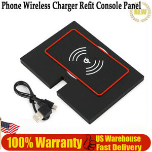 Black Dc5v 1 0a 9v 1 67 A Usb Phone Wireless Charger Refit Console Panel New