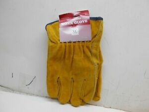 5 Pairs Of New Xl Industrial Heavy Duty Leather Work Gloves