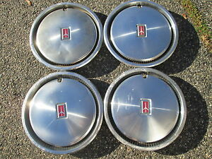 Factory 1982 1983 Oldsmobile Ciera 13 Inch Hubcaps Wheel Covers Set