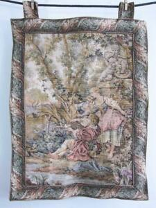 Beautiful French Verdure Style Tapestry 27 X 21 Wall Hanging D