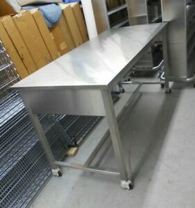 72 X 30 X 35 Stainless Steel Laboratory Work Bench table On Wheels