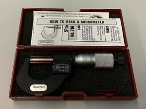Starrett No 216 With Case And Paperwork