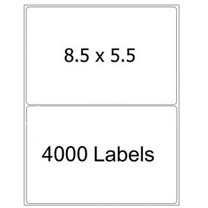 4000 Half Sheet Shipping Labels 8 5x5 5 Self Adhesive Round Corner Laser Inkjet