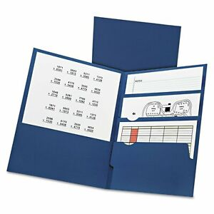Oxford Divide It Up Four pocket Paper Folders 11 X 8 1 2 Navy 20 box