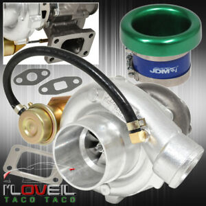 T3 T4 Turbo Charger Turbine Vband Internal Wastegate Velocity Stack Green
