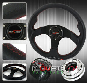 320mm Interior Steering Wheel Package Hub Adapter Quick Release Horn Button