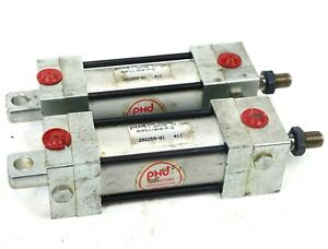 Lot Of 2 Phd Pneumatic Cylinder Avp11 8x8 p d 1 1 8 Bore 8 Stroke 150 Psi