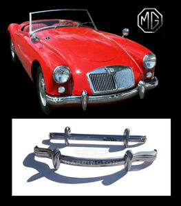 Brand New Mg Mga Stainless Steel Bumpers