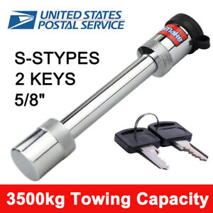 5 8 Hitch Pin Lock Truck Trailer Fit Class Iii Iv V Receiver Lock With 2 Keys