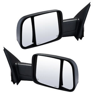 Pair Towing Mirrors For 2002 2008 Dodge Ram 1500 2500 3500 Pickup Power Heated