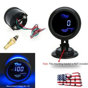 Digital 52mm 2 Led Auto Car Water Temp Gauge Temperature Meter With Led H7g4