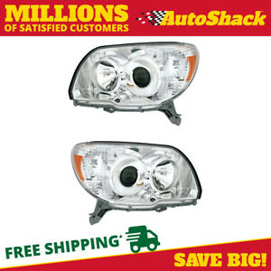 New Pair Of Left Right Headlights Fits 2006 2007 2008 2009 Toyota 4runner