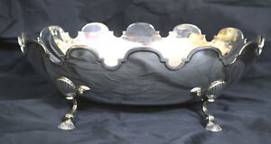 Tiffany Company Sterling Silver Large Shell Footed Center Bowl