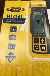 New Spectra Precision Hl450 Digital Laser Receiver Sensor