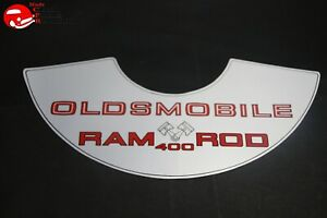 69 Oldsmobile Hurst Ram Rod 400 Air Cleaner Lic Decal 11 x5