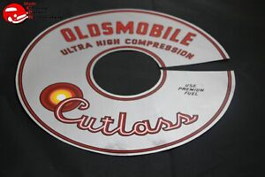 65 66 Oldsmobile Cutlass Ultra High Compression Air Cleaner Lid Decal 11 Silver