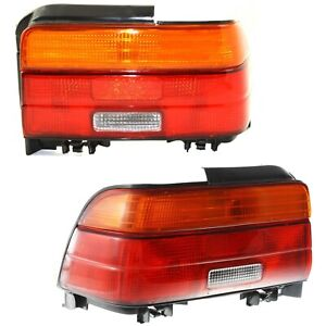 Halogen Tail Light Set For 1993 1995 Toyota Corolla Amber Clear Red W Bulbs 2pcs