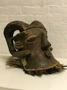 190222 Very Rare Large Tribal Used African Bwoom Kuba Mask Congo