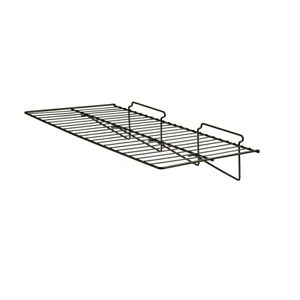 Econoco Heavy Duty Straight Slat Wall Shelf 24 Length X 12 Depth Pack Of 6