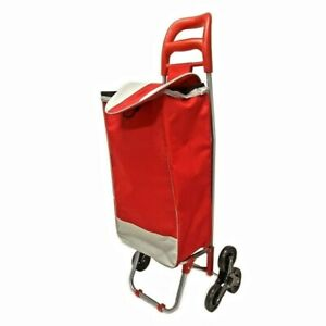 Heavy Duty Rolling Light Weight Shopping Utility Cart Dolly Trolley Red
