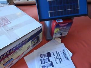 New Parmak Solar Powered Electric Fence Charger Model Df sp li Made In Usa