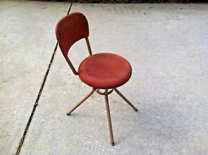 Vtg Hamilton Cosco Retro Office Desk Chair Swivel Steampunk Secretary Mcm