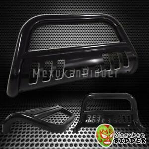 3 Round Black Front Bull Bar Grille Guard 2002 2006 Chevy Avalanche 1500