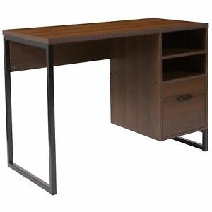 Lancaster Home Brown Wood metal Coffee Desk