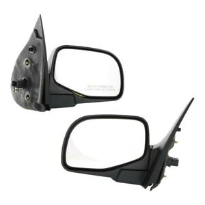 Power Mirror For 2002 2005 Ford Explorer With Puddle Light Manual Fold Set Of 2