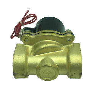 1 Inch Brass High Pressure Electric Steam Solenoid Process Valve 220v Ac