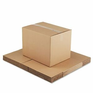 General Supply Brown Corrugated Fixed depth Shipping Boxes 24 inch Long X