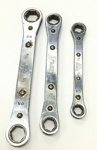 Snap on Ratcheting Wrench Set R2022s R1618s R1214s 5 8 11 16 1 2 9 16 3 8 7 16