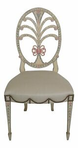 46920ec Karges Hepplewhite Paint Decorated Side Chair