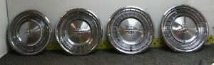 Oem Ford Set Of 4 15 Hub Caps Wheel Covers 1961 Lincoln Continental 748