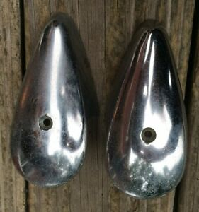 Pair Of Vintage Vw Volkswagen Turn Signals Blinkers Flashers Trim