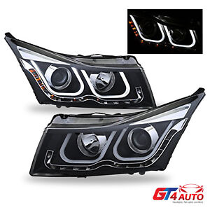 Aggresive U Type Led Projector Headlights 2011 2016 Chevy Cruze Bulbs Included