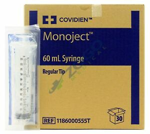 Monoject 60cc Syringe Without Needle Regular Tip Box Of 30