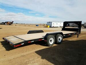 2011 Pj Gooseneck Equipment Trailer New Deck 24x7 stock 2477