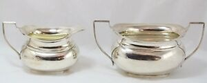 Vintage W Neale English Sterling Silver Creamer Pitcher And Sugar Bowl
