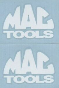 2 Mac Tools 6 White Decals Stickers For Trucks Toolbox Windows Cars